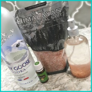 Ingredients for DIY Day at the Beach Salt Body Spray | The Blooming Carrot