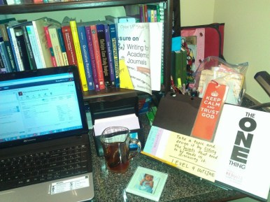 I'm ready to write! Liquid Planner is up, I've got my Earl Grey Tea, and my outlines are before me!