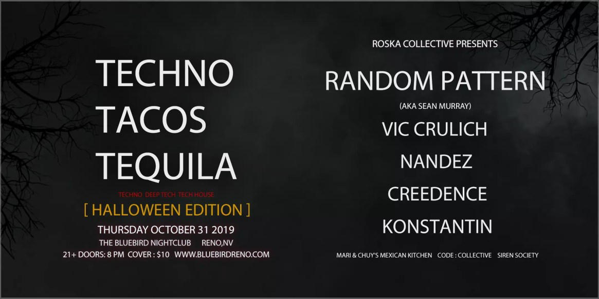 Techno Taco Tequila Halloween Flyer 2 remake 1