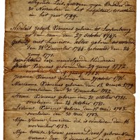 A Stray Paper ~ The Ximenes Family Record