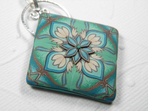 Art Nouveau Millefiori Pendant by Dede Leupold http://www.etsy.com/shop/DedeLeupold