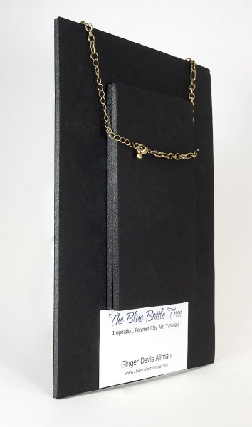 Foam core necklace display showing the stacked back.
