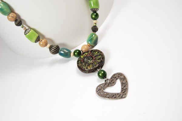 Do Over Challenge entry showing my handcrafted Rustic polymer clay bead.