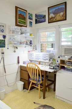 The Blue Bottle Tree's Polymer Clay Studio Workspace