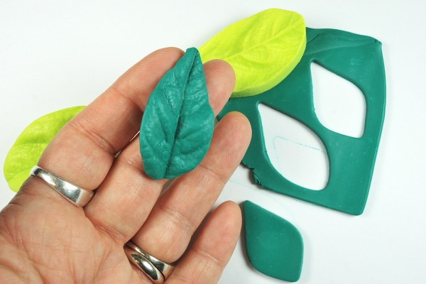 The front of the molded leaf from the Patchy mold.
