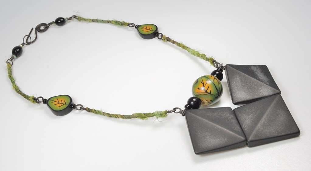 Another view of the necklace that I made for the 7th Do Over Challenge.
