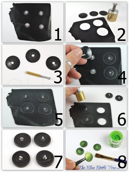 Learn how to make polymer clay buttons with a shank back. More at The Blue Bottle Tree.