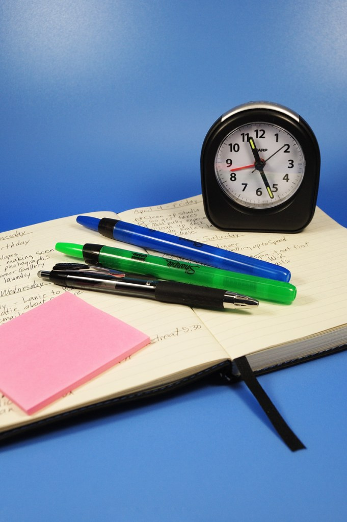 Productivity in Your Polymer Clay Studio, time management tips from The Blue Bottle Tree and Kater's Acres.