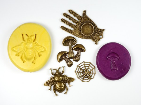 Learn how to use silicone mold putty to make perfect replicas of charms. Read the tutorial at The Blue Bottle Tree.