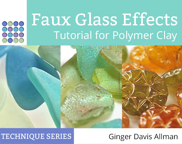 Learn to make faux Roman Glass, sea glass, Czech glass, and carnival glass from polymer clay with this tutorial from The Blue Bottle Tree.