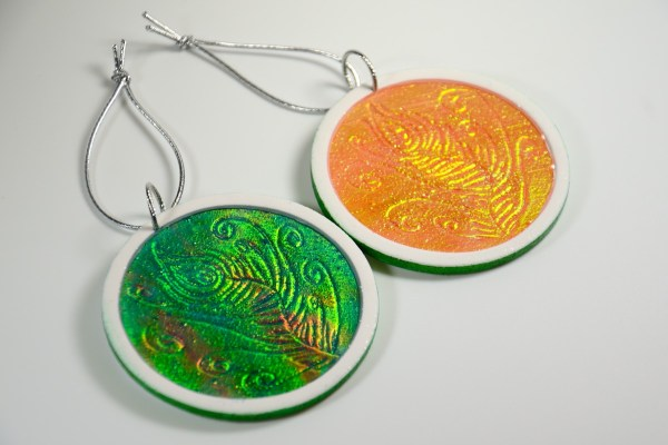 Holo Effect polymer clay christmas ornament