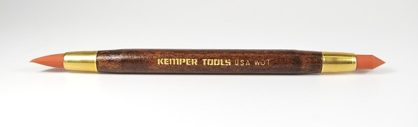 The Kemper Wipe Out Tool is a double-ended tool featuring soft rubber tips that are helpful with your polymer clay creations.