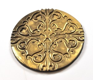 metallic look on polymer clay with inka gold