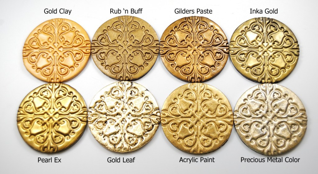 What's the best way to get a metallic look on polymer clay? Read more at The Blue Bottle Tree.