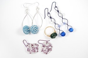 Some projects that I created from the book Freeform Wire Art Jewelry by Gayle Bird.