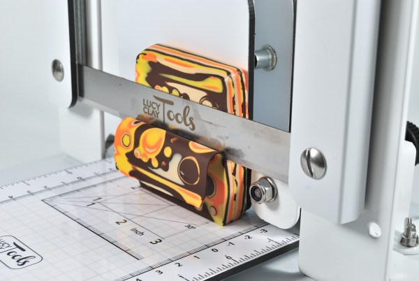 LC Slicer using the LC Angle Base to make slicing a stack of mokume gane easier.