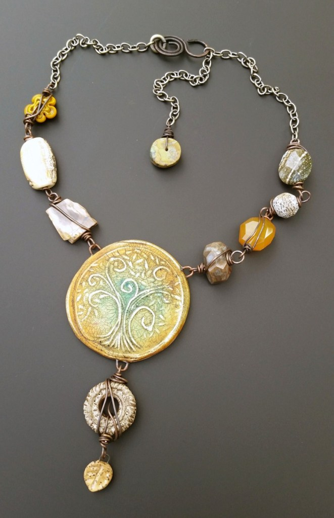 Staci Louise Smith necklace yellow polymer clay