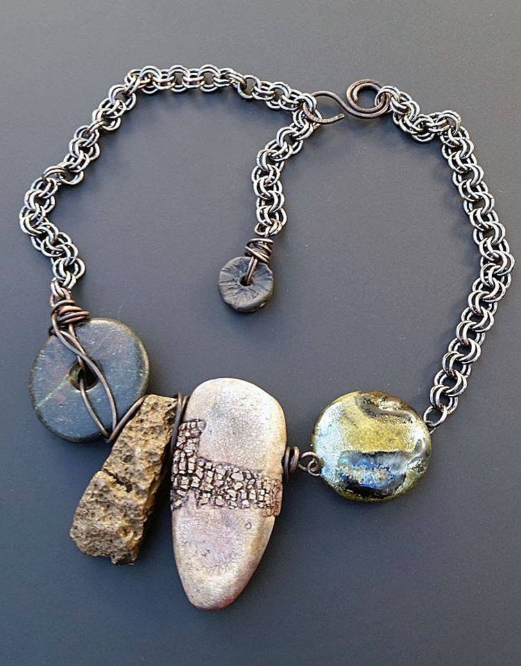 Staci Louise Originals necklace with polymer stones