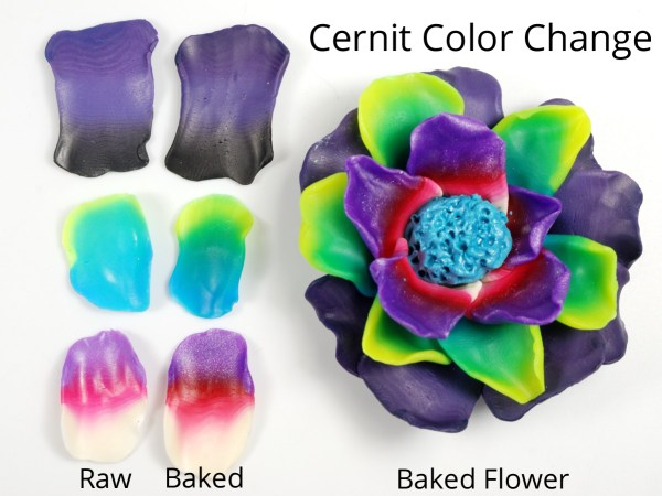 See how the color changes during baking of Cernit can impact your design.