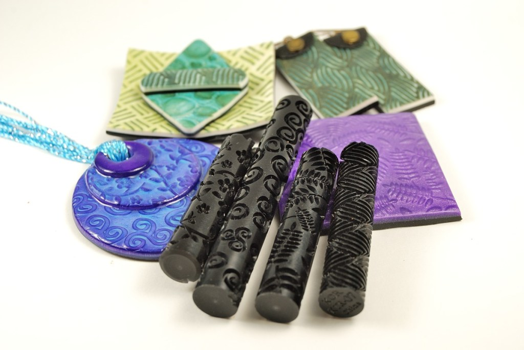 Learn about Kor rollers, a tool for creating texture on polymer clay.