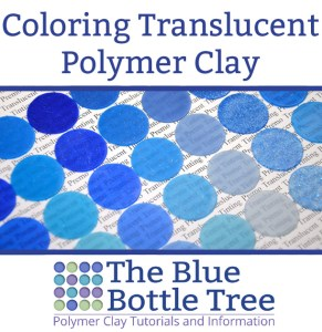 Curious what materials that you can use to color translucent polymer clay? Oil paints, acrylic paints, chalks....see the test results at The Blue Bottle Tree.