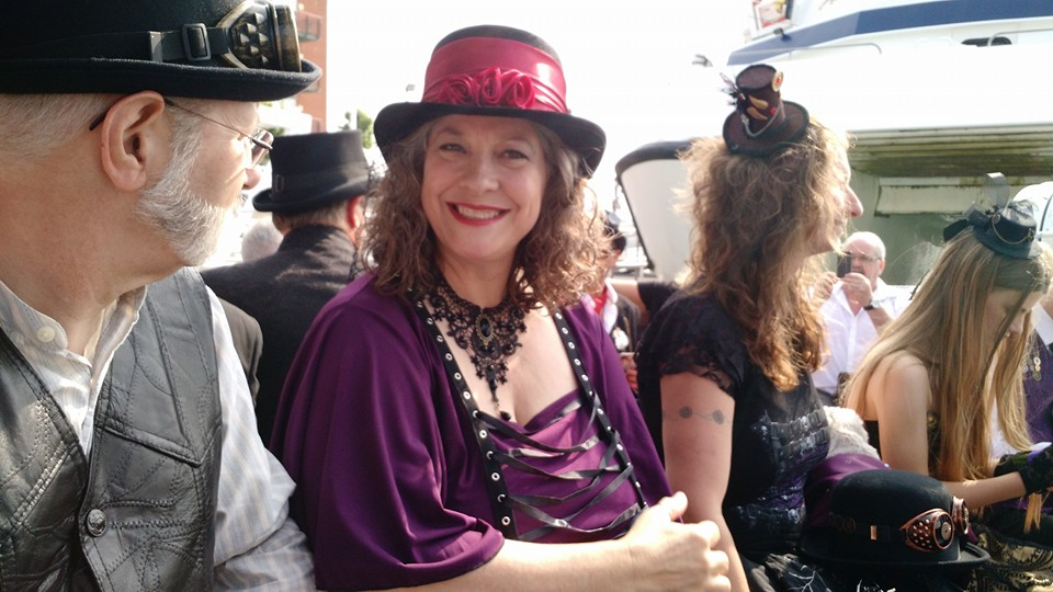 Ginger Davis Allman at a family wedding with a steampunk theme.