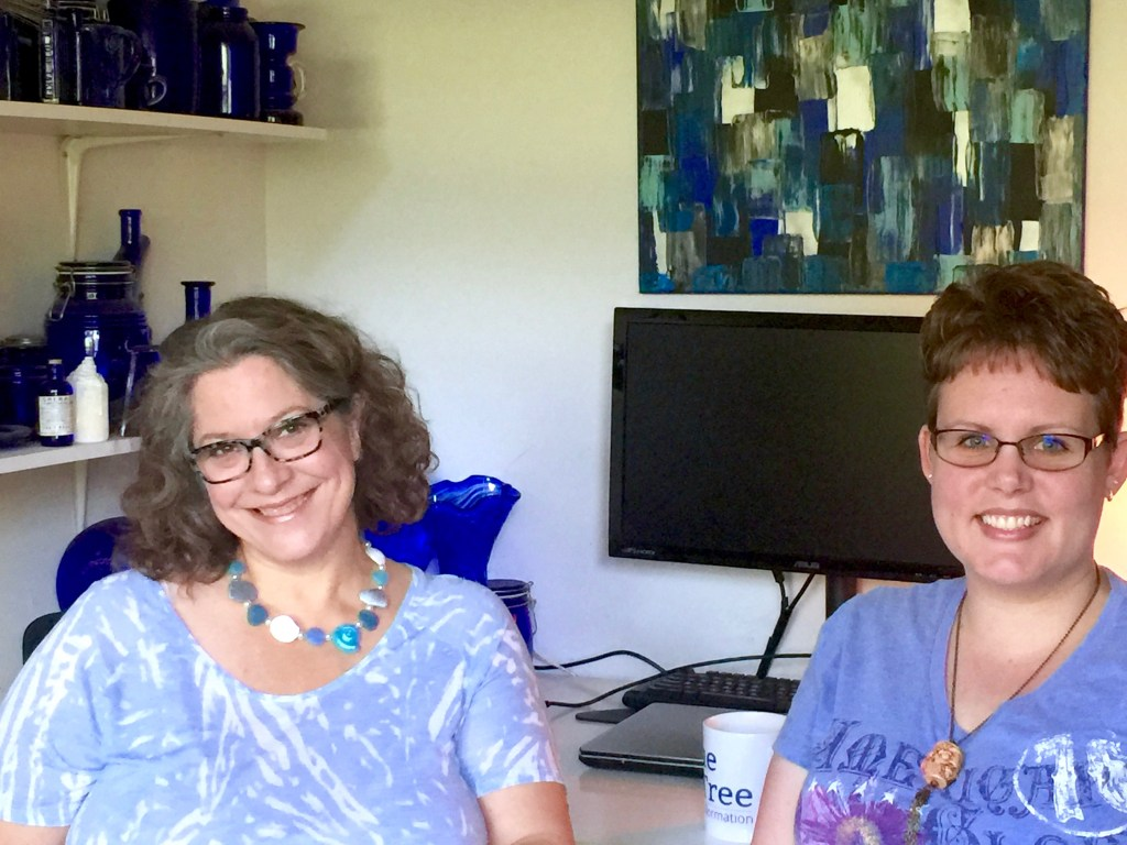 Ginger Davis Allman and Katie Oskin, polymer clay artists who collaborated on the Explorations in Voice project.