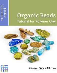 Organic Beads tutorial for polymer clay by Ginger Davis Allman of The Blue Bottle Tree.
