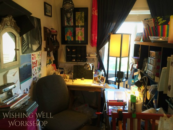 Here is the studio of Jennifer Sorensen, of Wishing Well Workshop.