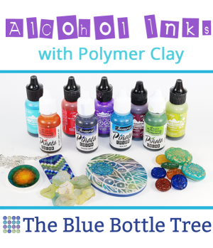 Learn about using alcohol inks with polymer clay in this article from The Blue Bottle Tree.