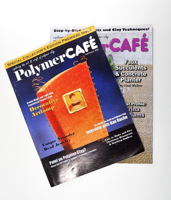 The first of several polymer clay magazines, Polymer Cafe, ceased publication recently after a long run.
