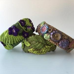 Botanical bracelets by Cyndi Cogbill of Pawpaw Patch Productions