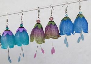 Flower earrings by Pavla Čepelíková of Saffron Addict