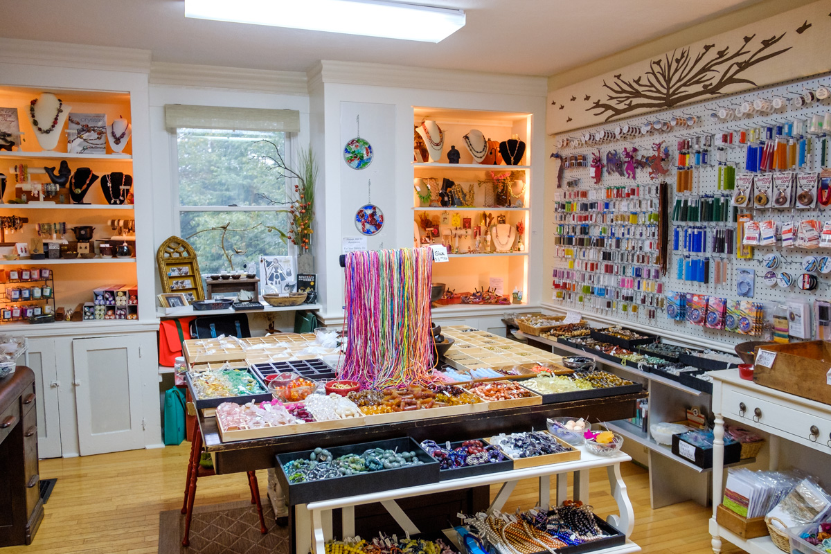 Beads and supplies at Allegory Gallery in Ligonier, Pennsylvania.
