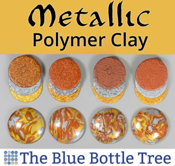 Compare brands of metallic polymer clay.