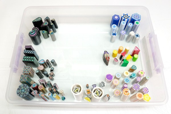 When you store polymer clay canes, it's important to be able to see what you have.