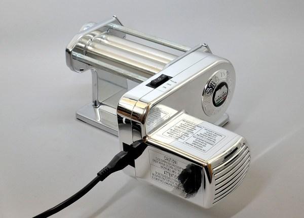 atlas pasta machine with atlas pasta drive motor