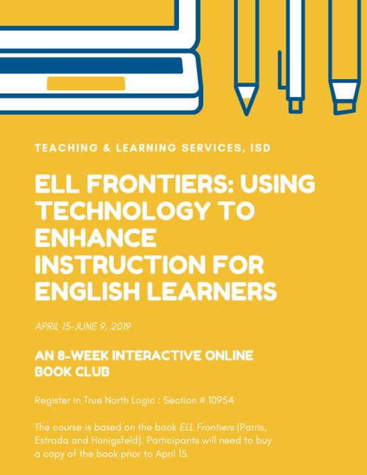 ELL Frontiers ad for online book study