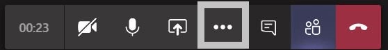 team task bar with more options