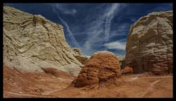 Landscape from another planet at The Toadstools, Paria Plateau, Utah