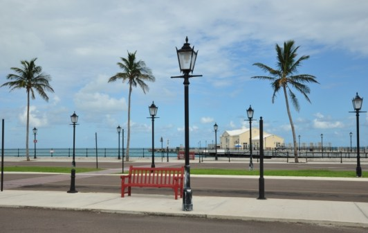 Lamp posts and Palm trees