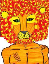 "Lion. (c) 2014. Bobby James. ""Kingdom Masks"" Series."