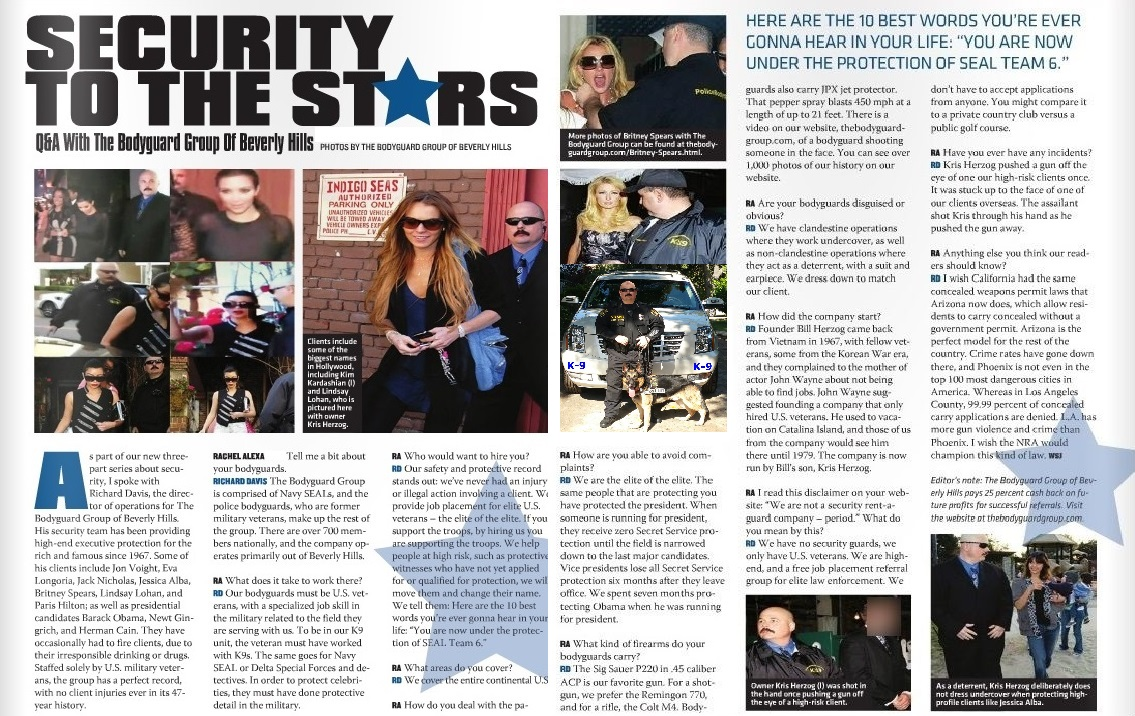Services Celebrity Security Vip Protection