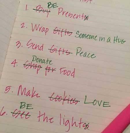 Pro Christmas opinion, CHristmas list