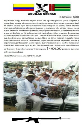 activist deaths, AGC Colombia, AUC Colombia, Social leaders deaths Colombia
