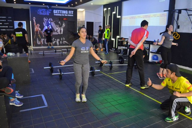 Step Ahead Bogotá, Gym routine