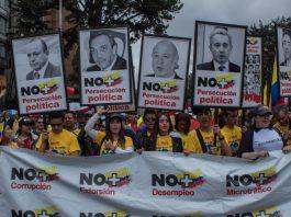 anti-corruption protests, Uribe anti-corruption march