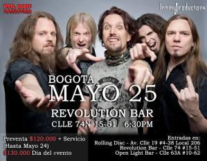 Power Metal Fest 2 - Sonata Arctica @ Revolution Bar | Bogotá | Bogotá | Colombia