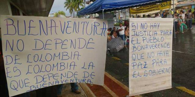 Colombian strikes, Teachers' strike Colombia, Buenaventura protests, paro profesores,