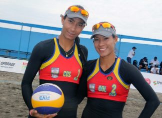 volleyball colombia, Andrea y Claudia Galindo